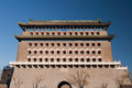The zhengyangmen archery tower the qianmen archery tower beijing china Stock Photos
