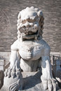 Zhengyangmen gate lion statue in front of gatehouse commonly know as qianmen in dongcheng district beijing china Stock Images