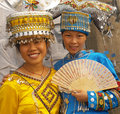 Zhuang minority people guilin china and miao from the area of guizhou provence in Stock Photography