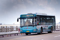Zhuhai bus in city china june roads on seaside blue sky background Royalty Free Stock Photos