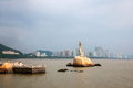 Zhuhai lovers road waterfront zhuhai fisher girl sculpture like city guangdong province zhong seaside Stock Images