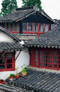 Zhujiajiao town in shanghai roof with historic buildings Royalty Free Stock Photo