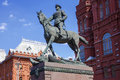 Zhukov monument in moscow russia Royalty Free Stock Photos