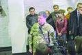 ZHYTOMYR, UKRAINE - Oct 10, 2014: President Petro Poroshenko took part in opening tank factory