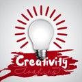 Ziarovka idea bussines black bulb design of progress bar loading creativity splash colored background Royalty Free Stock Images