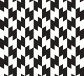 Zig zag vector seamless pattern black and white background lines appear to tilt but image consists of squares only Royalty Free Stock Photos