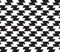 Zig zag vector seamless pattern black and white can be used as background Stock Image