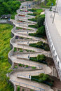 The zig zag walkway of riverfront chattanooga tennessee Stock Photos