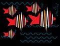 Zigzag Fish Royalty Free Stock Photo