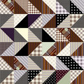 Zigzag patchwork Stock Images