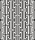 Zigzag pattern black white line Royalty Free Stock Photography