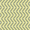 Zigzag pattern with oval models Royalty Free Stock Image
