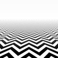 Zigzag pattern perspective in illustration Stock Photos
