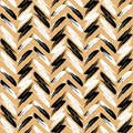 Zigzag pattern seamless Zigzag background. Gold and black zigzags on a white background. Modern . Vector repeating