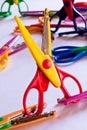 Zigzag scissors Stock Images