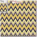 Zigzag and stripe line tile with sample pattern. Vector illustra