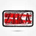 Zika virus grunge rubber stamp on white background. Royalty Free Stock Photo