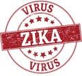 Zika virus round stamp