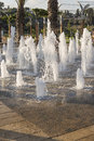 Zikhron Ya'akov, Israel, September 23, 2014 : kids playing in fountain at the playground Royalty Free Stock Photo