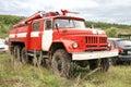 Zil bashkortostan russia september soviet based firetruck at the countryside Royalty Free Stock Photography
