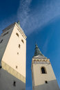 Zilina, Slovak Republic,Church of the Holy Trinity Two towers Royalty Free Stock Photo