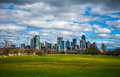Zilker Park Austin Texas Dramatic Patchy Clouds Early Spring 2016 Skyline View