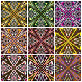 Zimbabwe textile pattern set modern texture from southern africa with artistic motifs Royalty Free Stock Photos