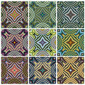 Zimbabwe textile pattern set modern texture from southern africa with artistic motifs Stock Photos