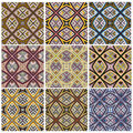 Zimbabwe textile pattern set modern texture from southern africa with artistic motifs Royalty Free Stock Images