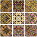 Zimbabwe textile pattern set modern texture from southern africa with artistic motifs Stock Photo