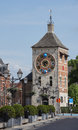 Zimmer tower with jubilee clock in lier belgium different dials the official time equation of time zodiac solar orb and Stock Image