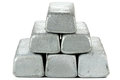Zinc bars Royalty Free Stock Photo