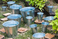 Zinc bucket of water Royalty Free Stock Image