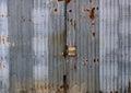 Zinc door old rusty in cloudy day Stock Image