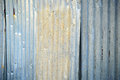 Zinc fence old wall background Stock Photos