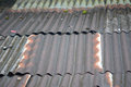Zinc roof old for home building Royalty Free Stock Images