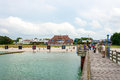 Zingst beach promenade germany june in view from the pier a famous tourist destination of the sea spa town Royalty Free Stock Photography