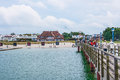 Zingst beach promenade germany june in view from the pier a famous tourist destination of the sea spa town Stock Images