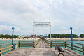 Zingst pier germany june in a famous tourist destination of the sea spa town Stock Image