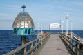 Zinnowitz diving bell pier on island usedom Royalty Free Stock Images