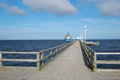 Zinnowitz diving bell pier on island usedom Stock Photography