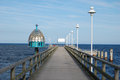 Zinnowitz diving bell pier on island usedom Stock Photo