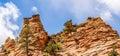 Zion canyon park utah national Stock Images