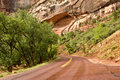 Zion Canyon Roadway Royalty Free Stock Images
