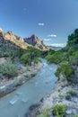 Zion Canyon at Sunset Royalty Free Stock Photo