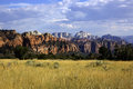 Zion national park landscape of red rocks at utah Stock Image