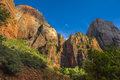 Zion National Park at Sunset, Utah Royalty Free Stock Photo
