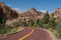 Zion national park utah on the mount carmel highway Royalty Free Stock Photos
