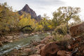 Zion Park - Watchman Stock Photo