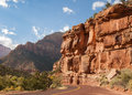 Zion scenic drive Photo stock